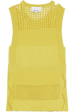 3.1 Phillip Lim Women Singlets - Woman Pointelle-knit Top Bright Size L