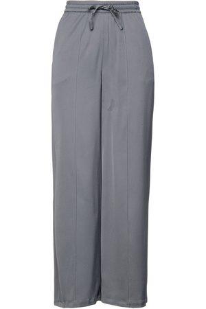 American Vintage Women Wide Leg Trousers - Woman Stretch-twill Wide-leg Pants Gray Size L