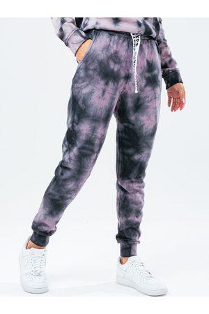 Hype Women Trousers - Tie Dye Oversized Jogger - Black