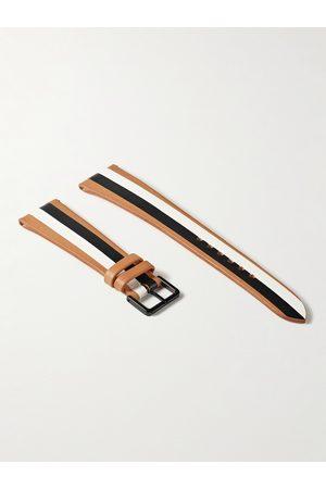 laCalifornienne Men Watches - B&W Striped Leather Watch Strap