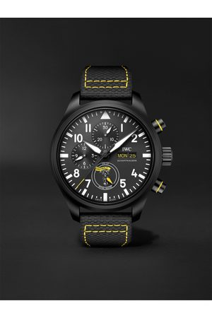 IWC SCHAFFHAUSEN Pilot's Royal Maces Automatic Chronograph 44.5mm Ceramic and Leather Watch, Ref. No. IW389107