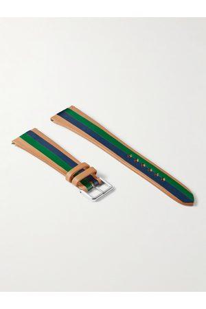 laCalifornienne Men Watches - Ivy Striped Leather Watch Strap