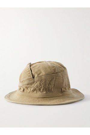 KAPITAL Men Hats - Quilted Cotton Bucket Hat