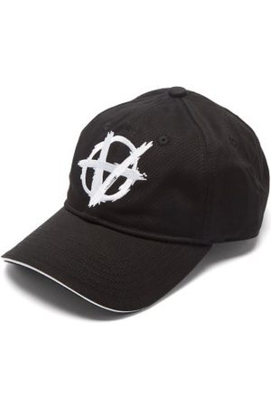 Vetements Anarchy Logo-embroidered Cotton-twill Cap - Mens