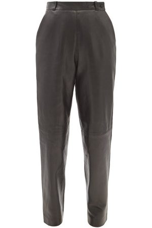 Raey Straight-leg Leather Trousers - Womens