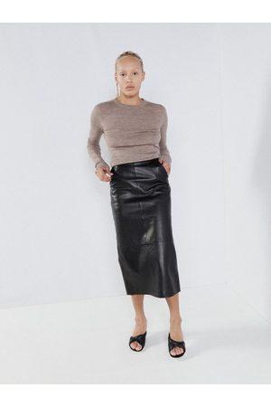 Raey Leather Pencil Skirt - Womens