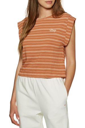Roxy Women Short Sleeve - Colorful Rain s Short Sleeve T-Shirt - Sunburst Horizon Stripe