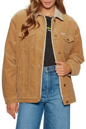 Wrangler Jeans Women Jackets - Wrangler Heritage Sherpa s Jacket - Tan