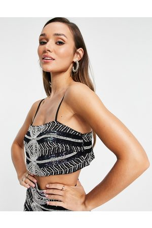 ASOS Placement beaded cami top in