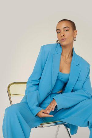 NASTY GAL Women Blazers - Womens Oversized Pocket Single Breasted Suit Blazer