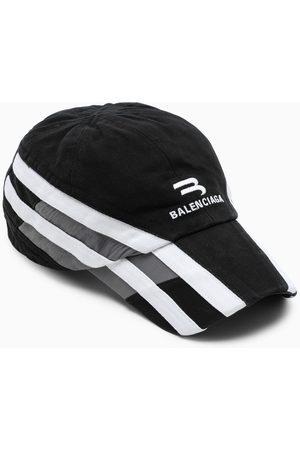 Balenciaga /grey/white logo-embroidery baseball cap