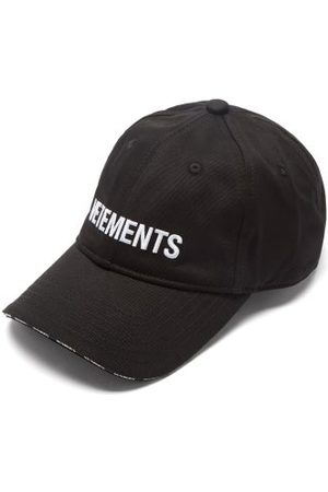 Vetements Logo-embroidered Cotton-twill Cap - Mens