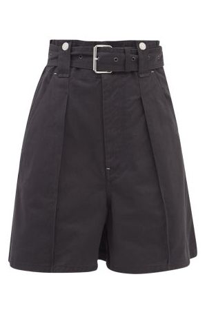 Isabel Marant Women Shorts - Delilaz High-rise Pleated Cotton-twill Shorts - Womens