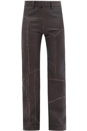 Acne Studios Patinated Patchwork-leather Trousers - Womens