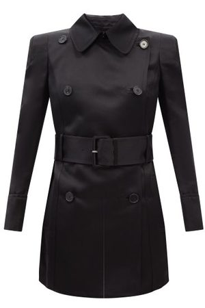 Tom Ford Double-breasted Silk-satin Trench Coat - Womens