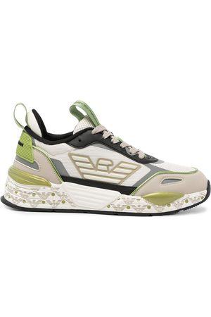 Emporio Armani Women Trainers - Logo-print colour-block sneakers