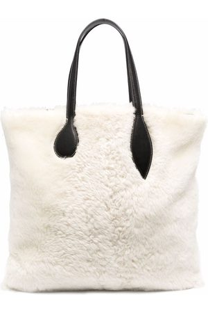 Little Liffner Shearling Sprout tote bag