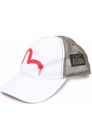 Evisu Logo-print mesh cap