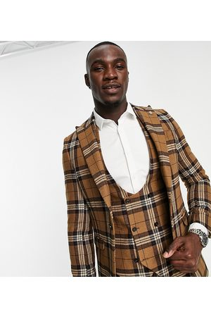 Twisted Tailor Tall suit jacket in tartan check
