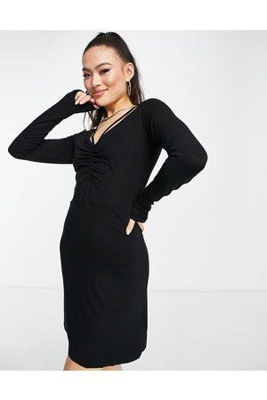 NA-KD Cut out neck detail mini dress in