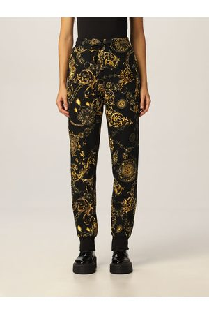 VERSACE Women Trousers - Trousers with Regalie Baroque print