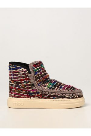 Mou Eskimo ankle boots in wool and jacquard fabric
