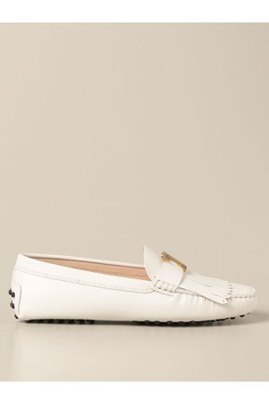 Tod's Tod's Gommini moccasin in smooth leather with fringes