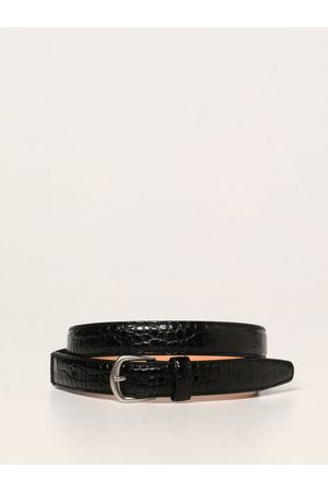Dsquared2 Leather belt with crocodile print
