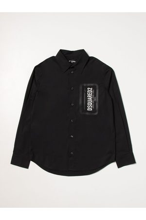 Dsquared2 Junior Shirt with logo and zip