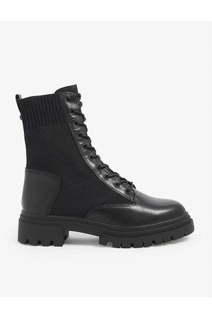 Aldo Women Boots - Reflow chunky-soled leather combat boots