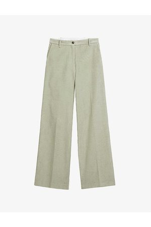 Ted Baker Women Trousers - Benitot cotton-corduroy trousers