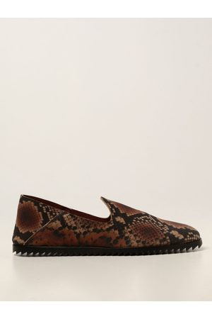 Pedro Garcia Women Loafers - Moccasins in suede with python print