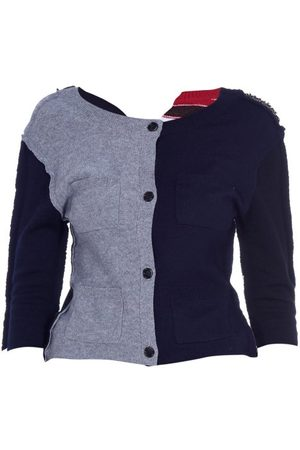 Marni Contrast-panel Wool-blend Cardigan - Womens - Multi