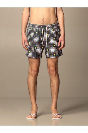 MC2 SAINT BARTH Swim shorts in PacMan patterned nylon