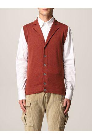 ELEVENTY Waistcoat Men colour Burnt