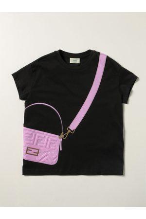 Fendi Cotton Tshirt with Baguette print