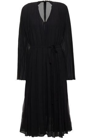 Samsøe Samsøe Women Midi Dresses - Samsøe Φ Samsøe Woman Pleated Chiffon Midi Dress Size L