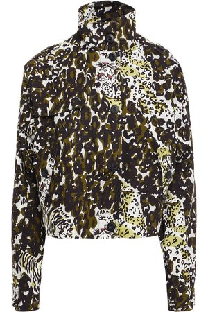 Samsøe Samsøe Women Summer Jackets - Samsøe Φ Samsøe Woman Printed Cotton-jacquard Jacket Ecru Size L