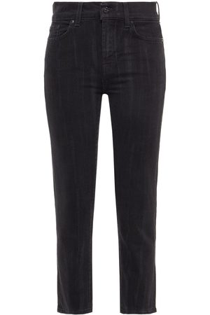 7 for all Mankind Women Straight - Woman Cropped Mid-rise Straight-leg Jeans Size 23