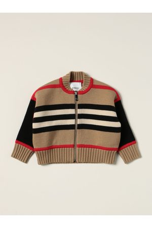 Burberry Cardigans - Cardigan in striped wool blend