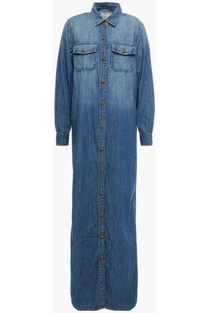 Current/Elliott Women Maxi Dresses - Woman Denim Maxi Shirt Dress Mid Denim Size 0