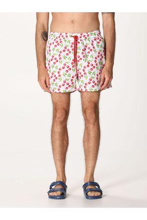 GCDS Men Swim Shorts - Micro patterned swim short