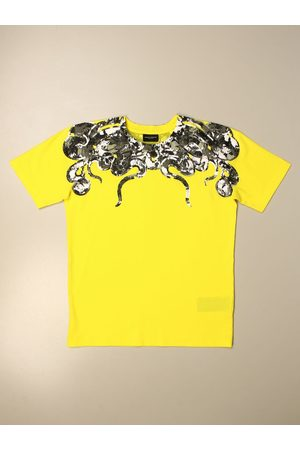 MARCELO BURLON Cotton tshirt with coils of snakes