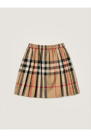 Burberry Pleated skirt in tartan stretch cotton