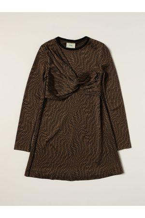 Fendi Viscose dress with allover monogram