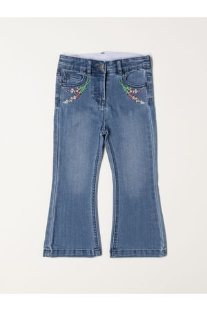Stella McCartney Women Bootcut - Jeans in denim with embroidery