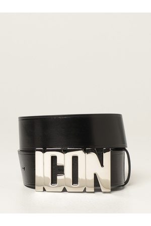 Dsquared2 Men Belts - Leather belt with Icon logo