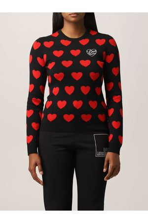 Love Moschino Jacquard sweater with hear's