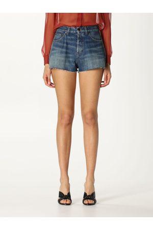 Saint Laurent Women Shorts - Denim shorts