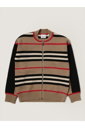 Burberry Cardigan in wool and cashmere blend with striped pattern